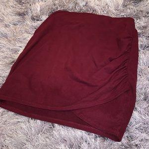 LA Hearts maroon skirt